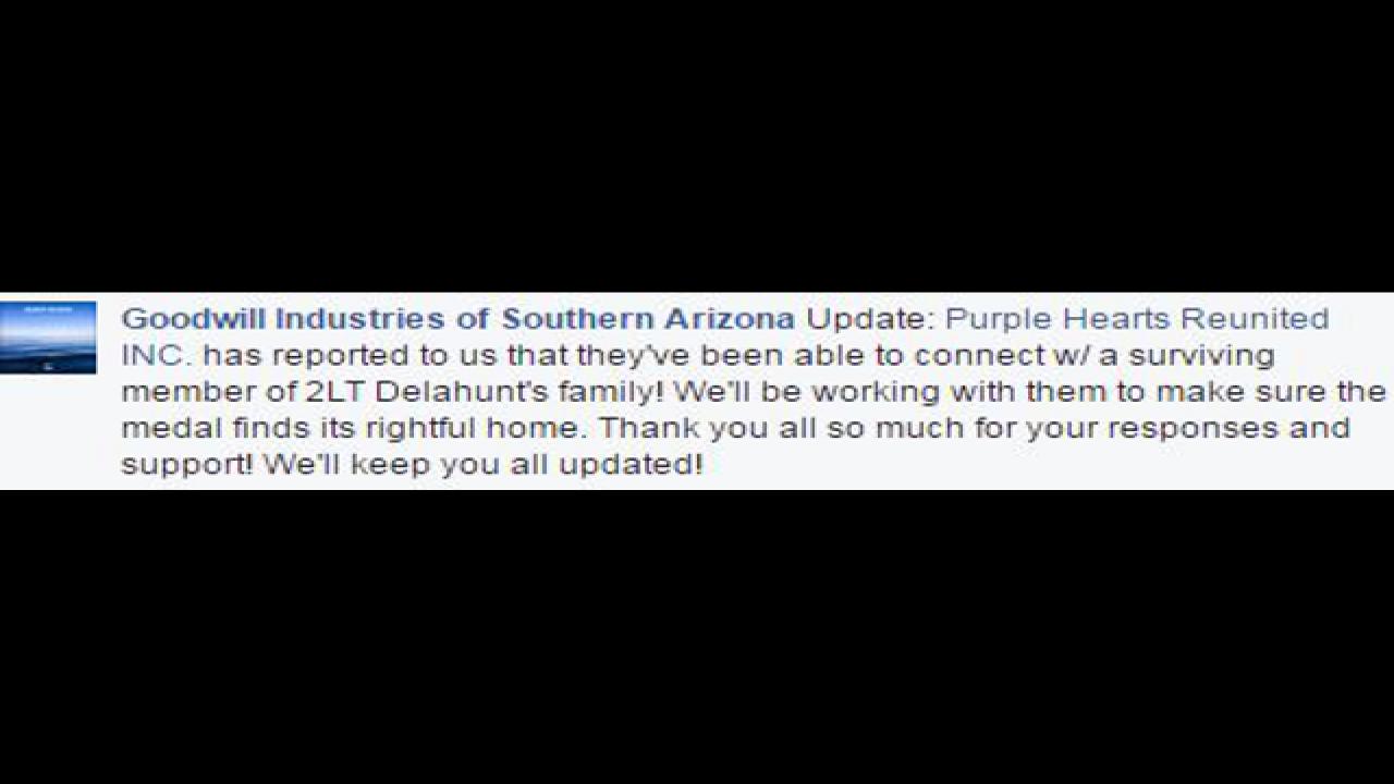 Help return Purple Heart to owner