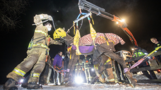 Crews rescue Hershey the horse