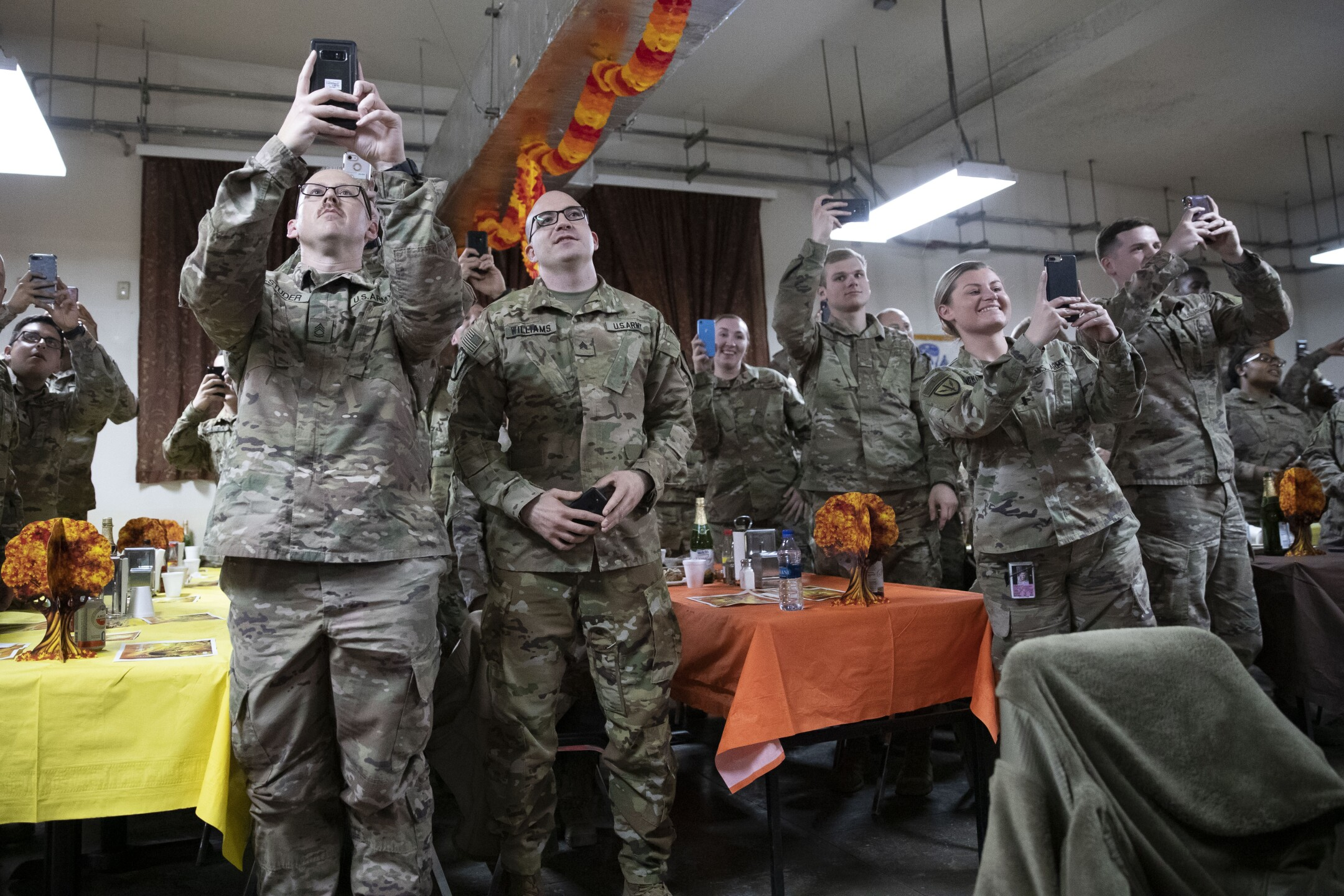 PHOTOS: Trump makes surprise Thanksgiving visit to troops in Afghanistan