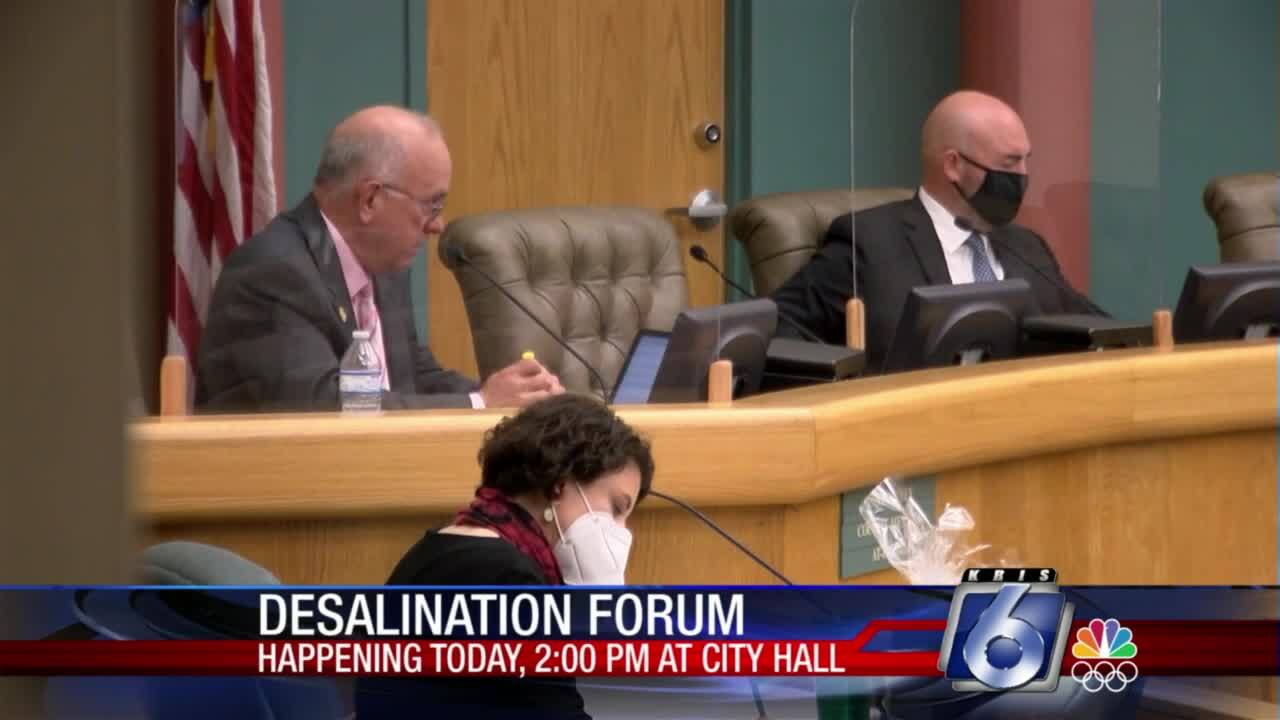 Desalination meeting set for this afternoon at City Hall