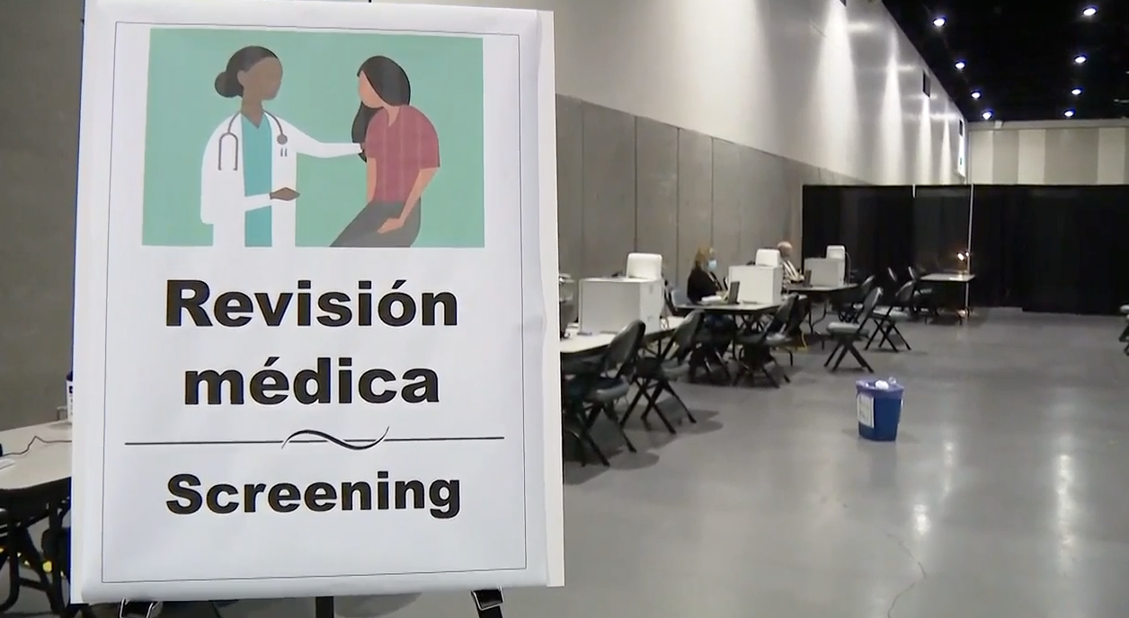 San Diego migrant shelter medical facility.png