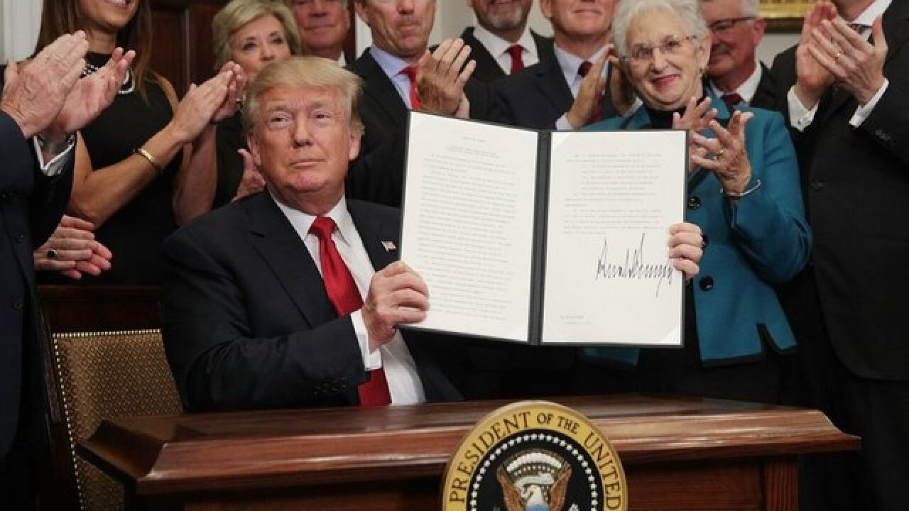 President Trump signed tax reform bill today