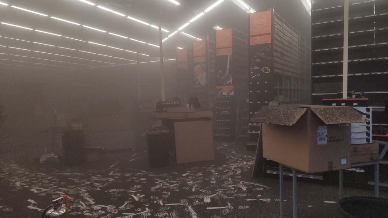 Fire at new Auto Zone in Estero, Florida