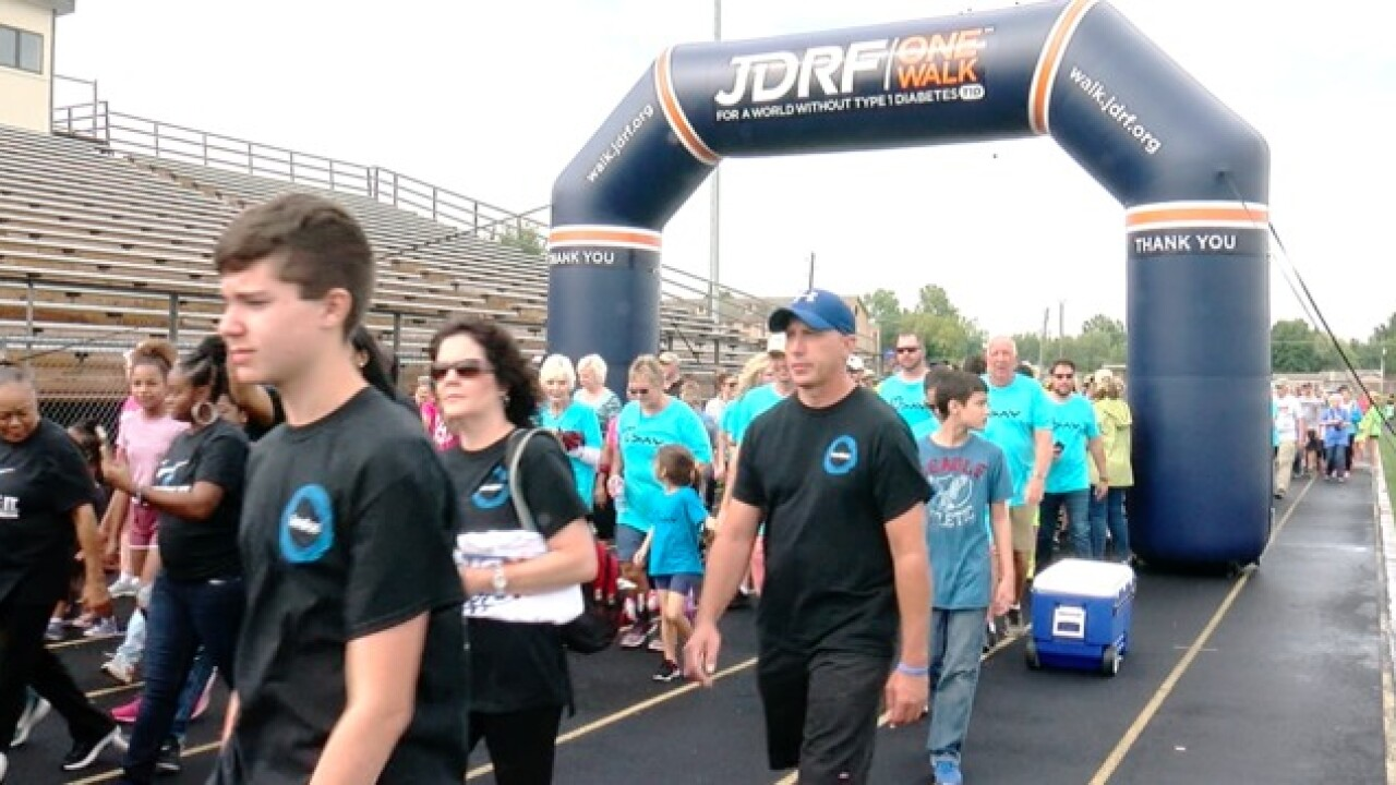 Juvenile Diabetes Research Foundation walk today