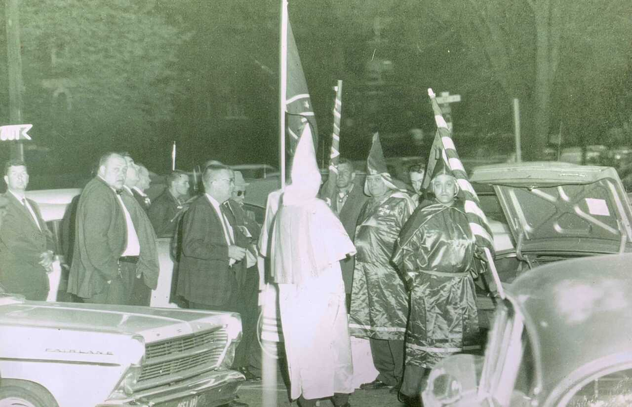 C. Smith Photo Ku Klux Klan outside Stokely Carmichael Speaking Engagement.jpg