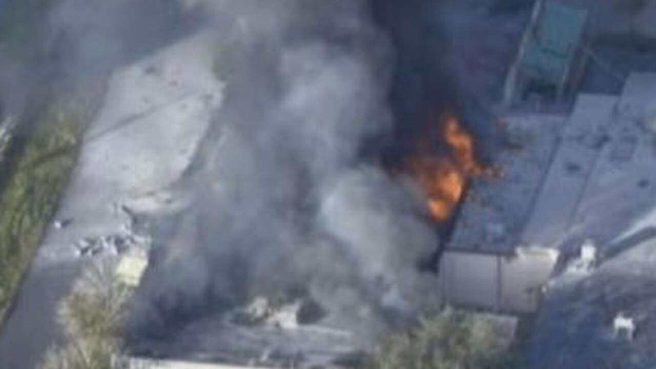 Massive warehouse fire in Fort Lauderdale