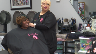 Despite taking hit during shutdown, hair salon helps furloughed workers