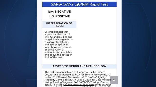 COVID-19 antibody rapid test