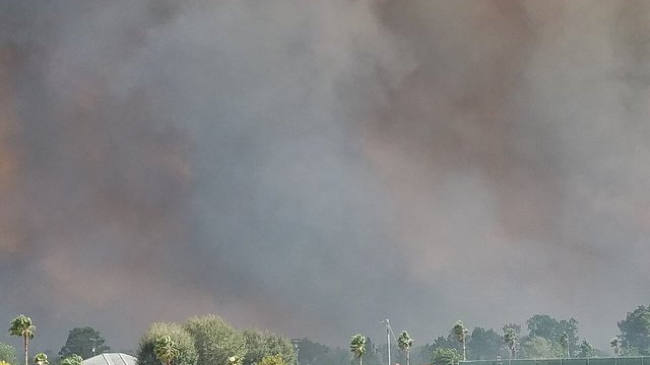 Brush fire forces evacuations in Frostproof