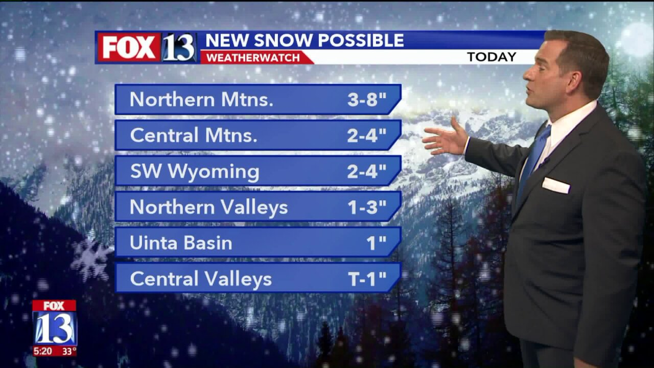 Cold front delivers snow for Tuesday's commute in northern Utah