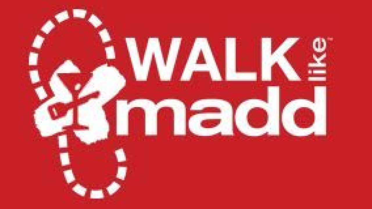 Mothers Against Drunk Driving to hold Walk Like MADD 5K
