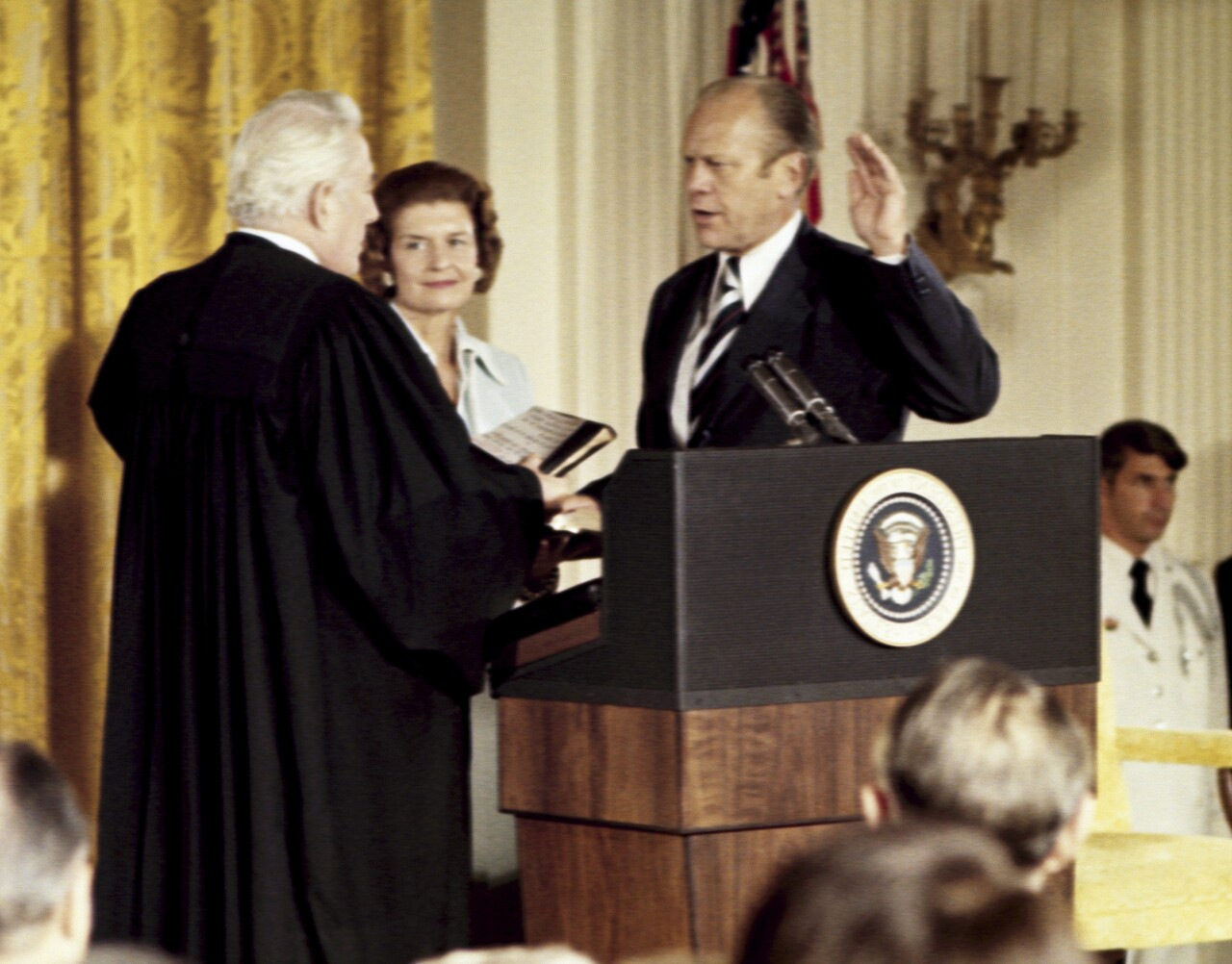 Gerald Ford sworn in as 38th president, Aug. 9, 1974