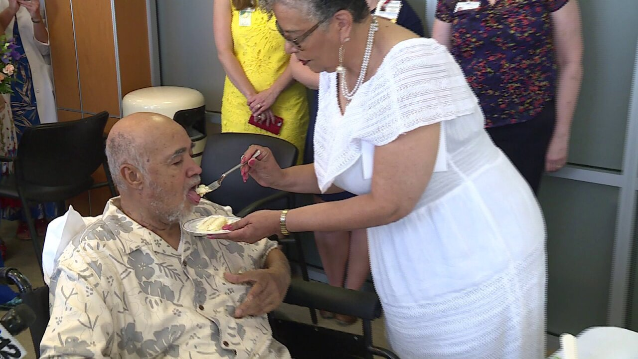 After heart surgery, 'he was talking love,' so this couple wed at hospital