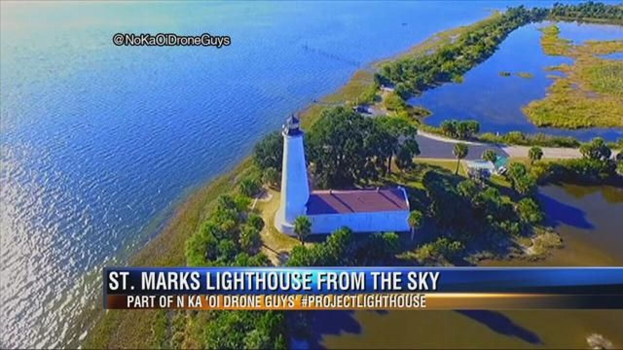 Drone Video Documents St. Mark's Lighthouse