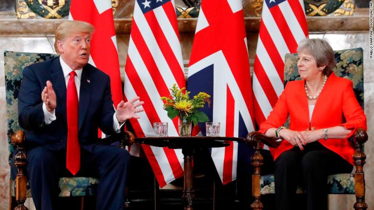 Trump says he apologized to May for interview