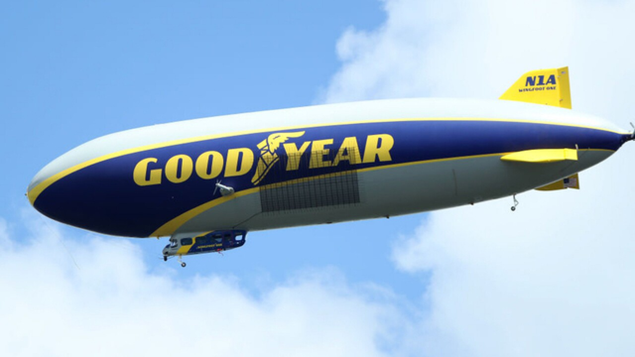 Goodyear honors free blimp ride voucher awarded 17 years ago