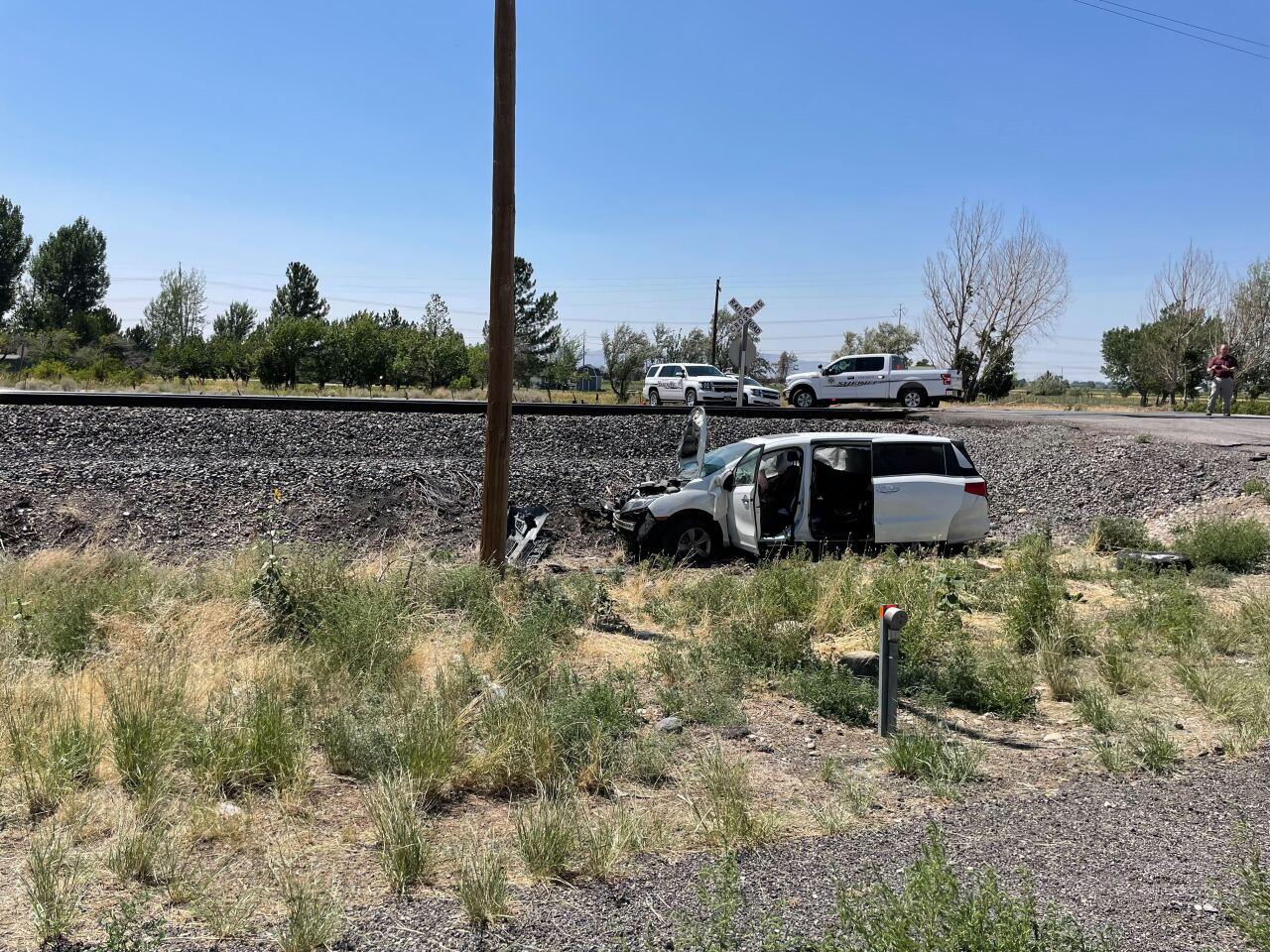 Train vs. Minivan Utah County