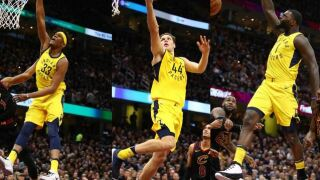 Oladapio scores 32, leads Pacers to 98-80 victory over the Cavs in game 1 of the NBA playoffs