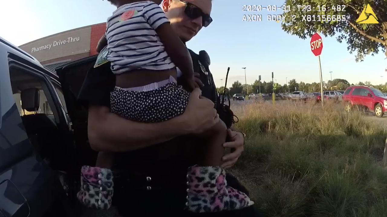2-year-old girl rescued from hot car.