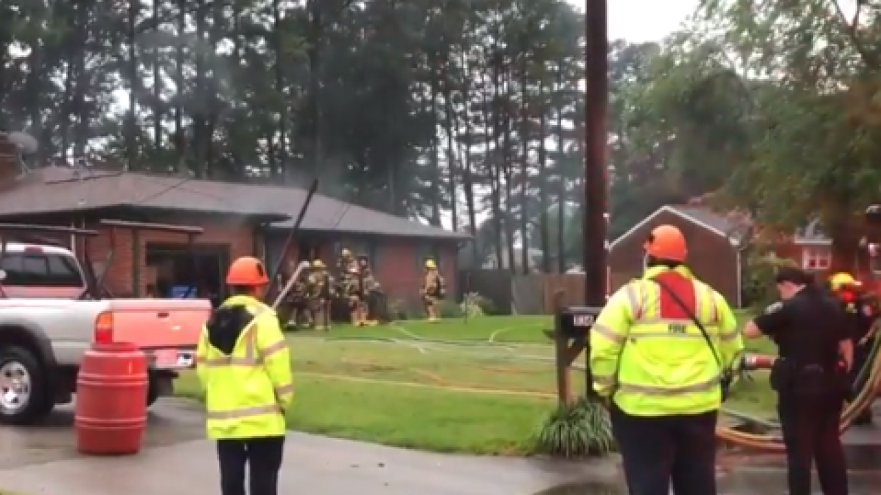 One person displaced after house fire in Chesapeake