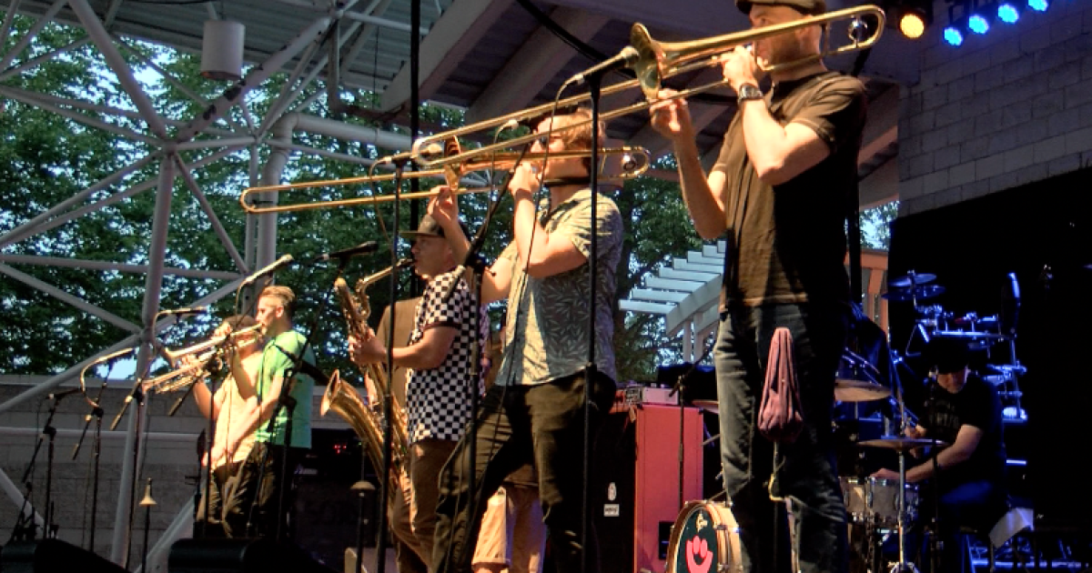 Lowdown Brass Band combines traditional and modern music for