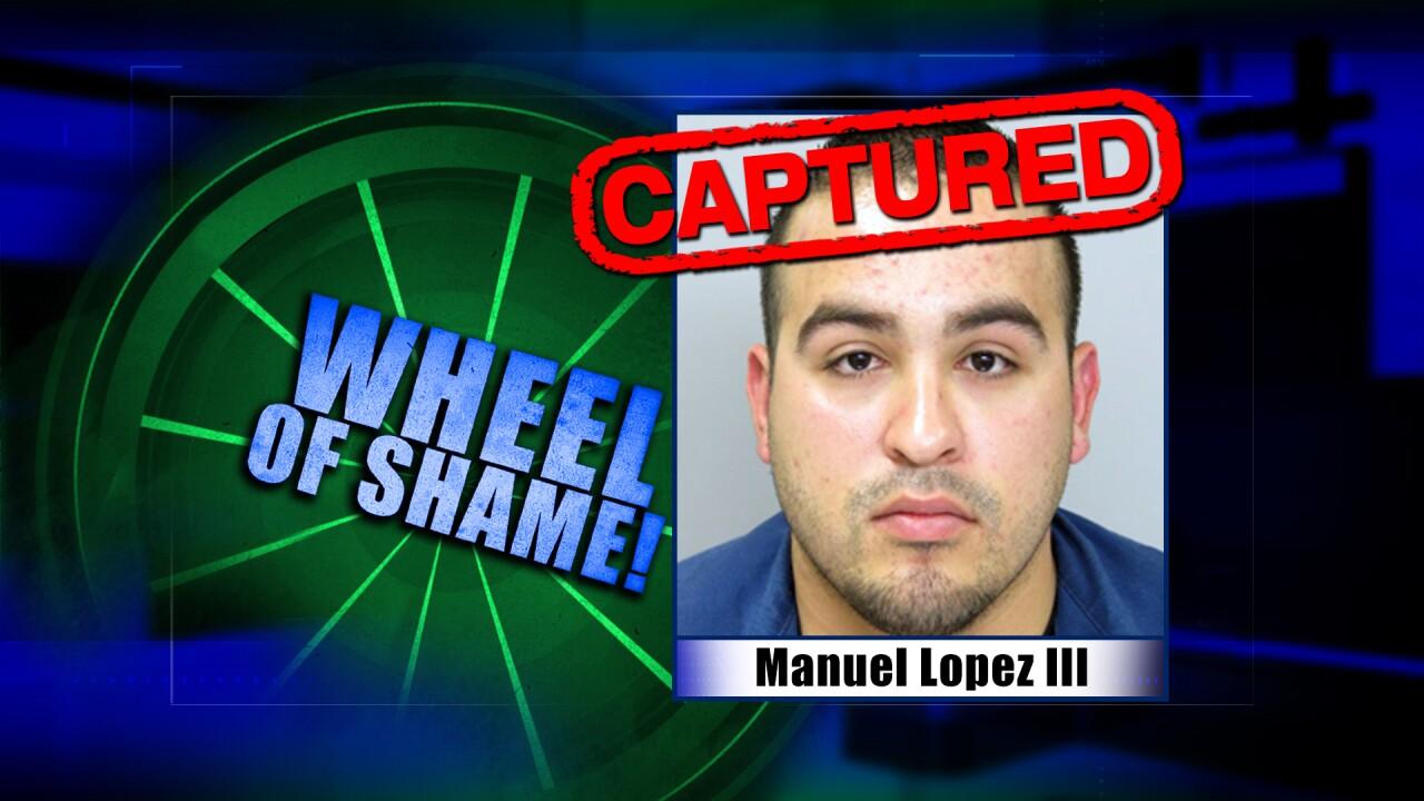 Wheel Of Shame Fugitive Arrested: Manuel Lopez III