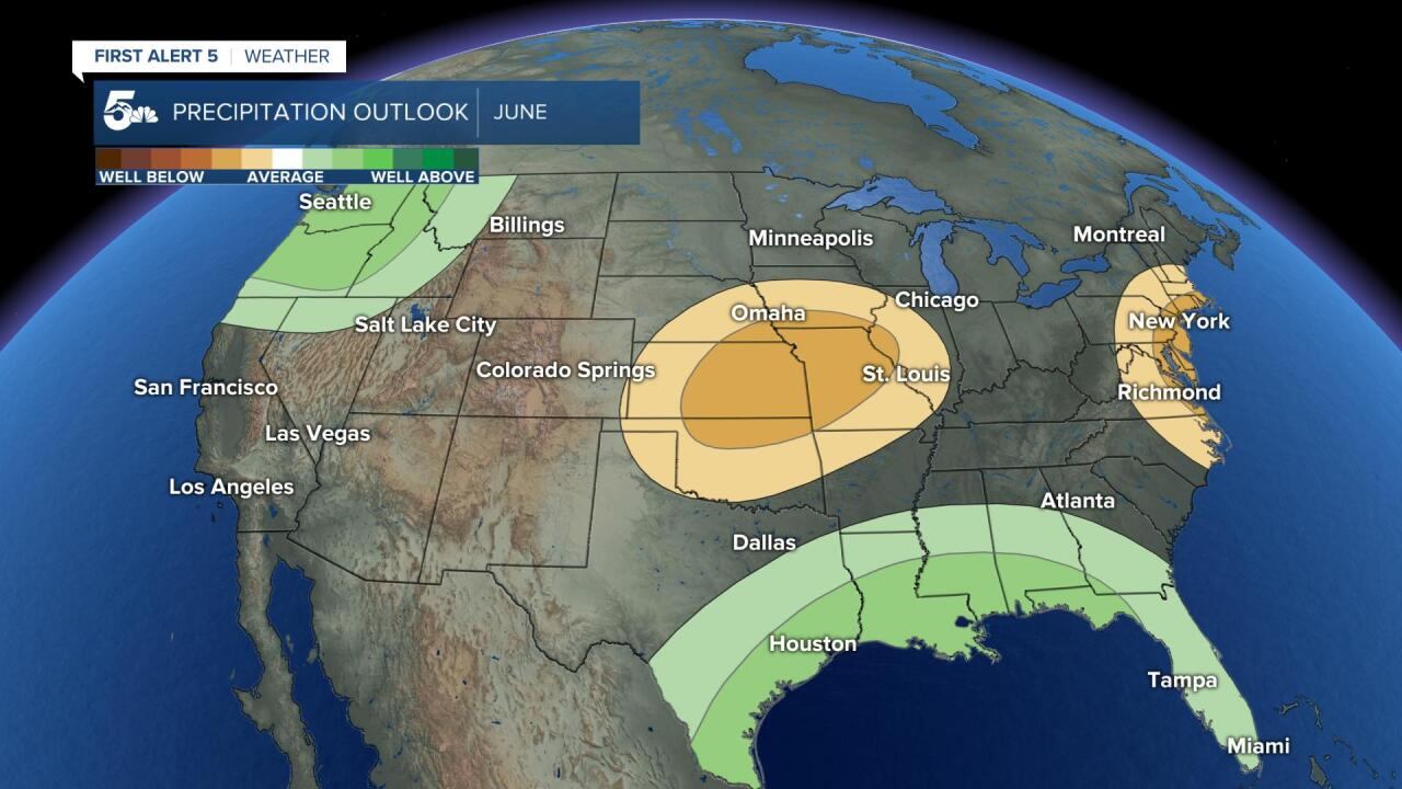 June precipitation outlook for the U.S.
