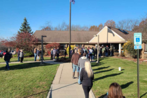Long lines at the polls