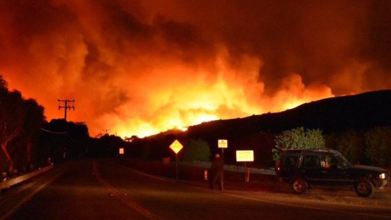 Santa Ana winds spur massive California fire