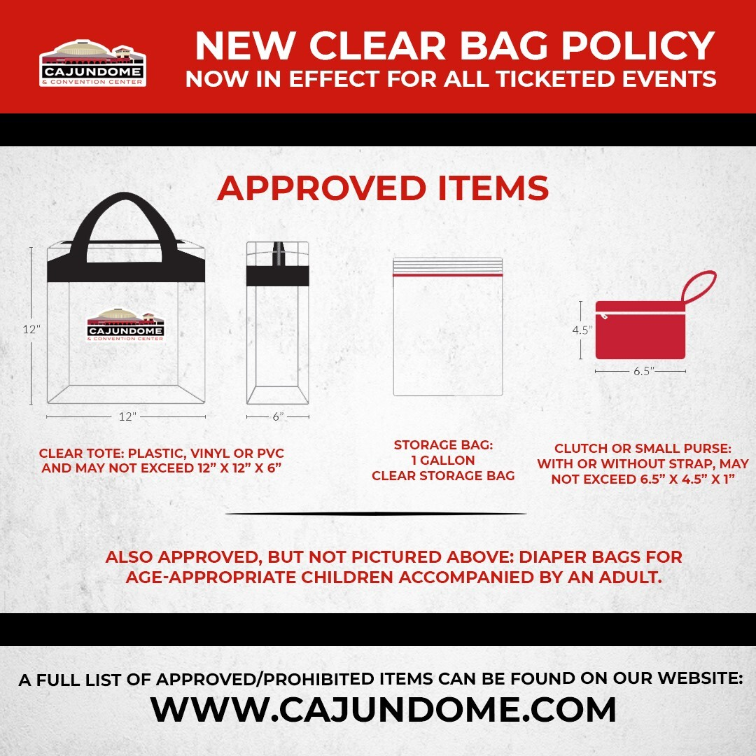 Cajundome clear bag policy.jpg