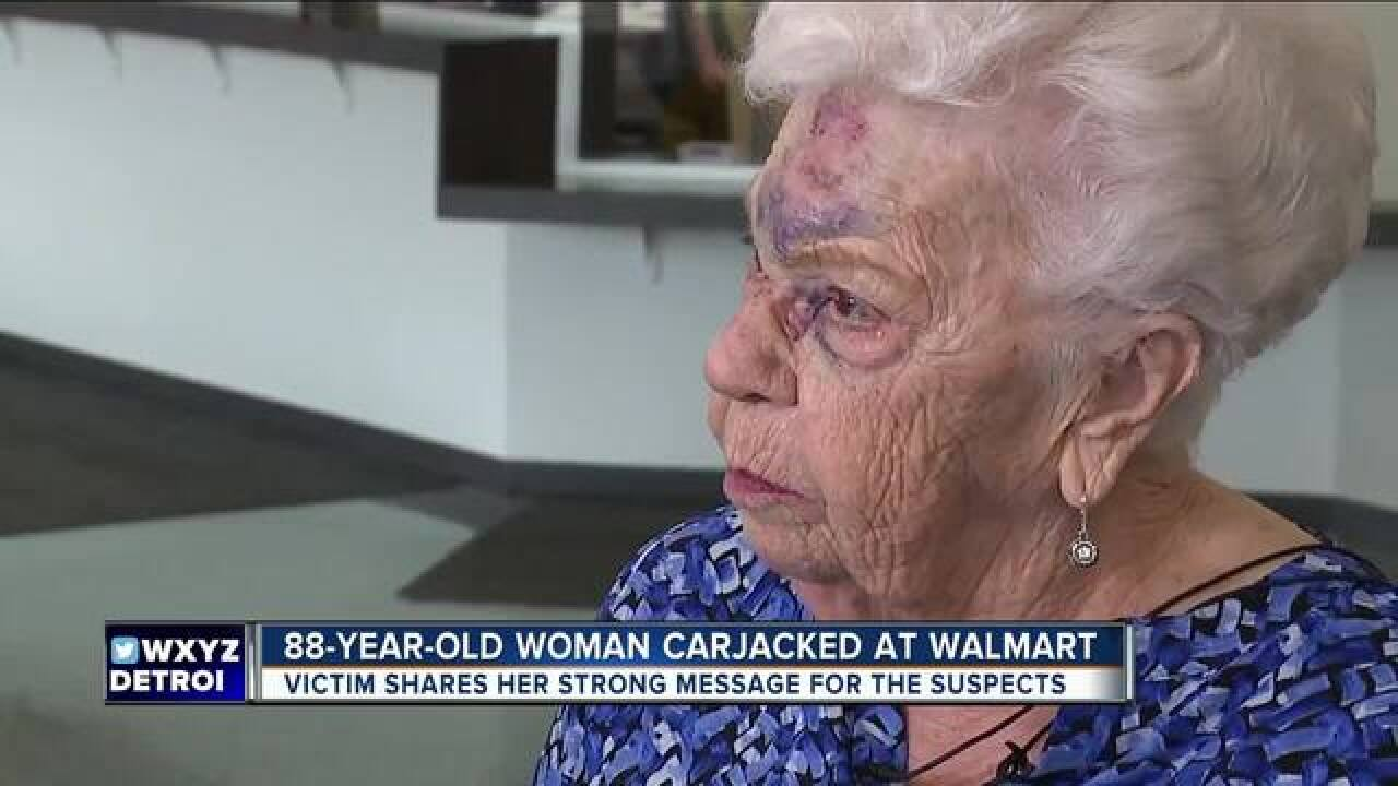 88 y.o. woman carjacked in Walmart parking lot