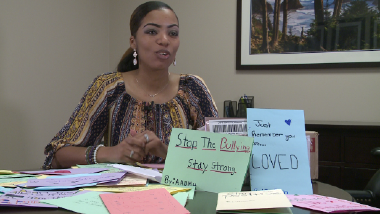 Chesapeake woman wants you to write a letter to a child who has beenbullied