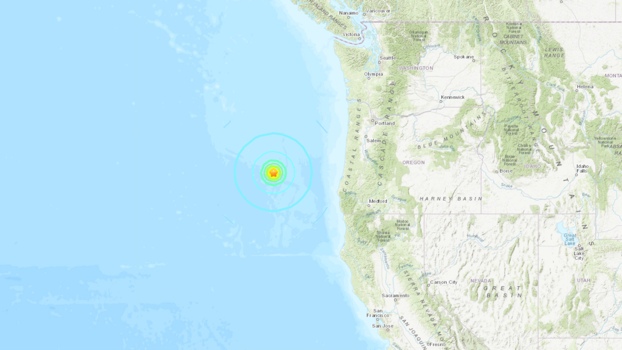 6.3-magnitude earthquake strikes off coast of Oregon