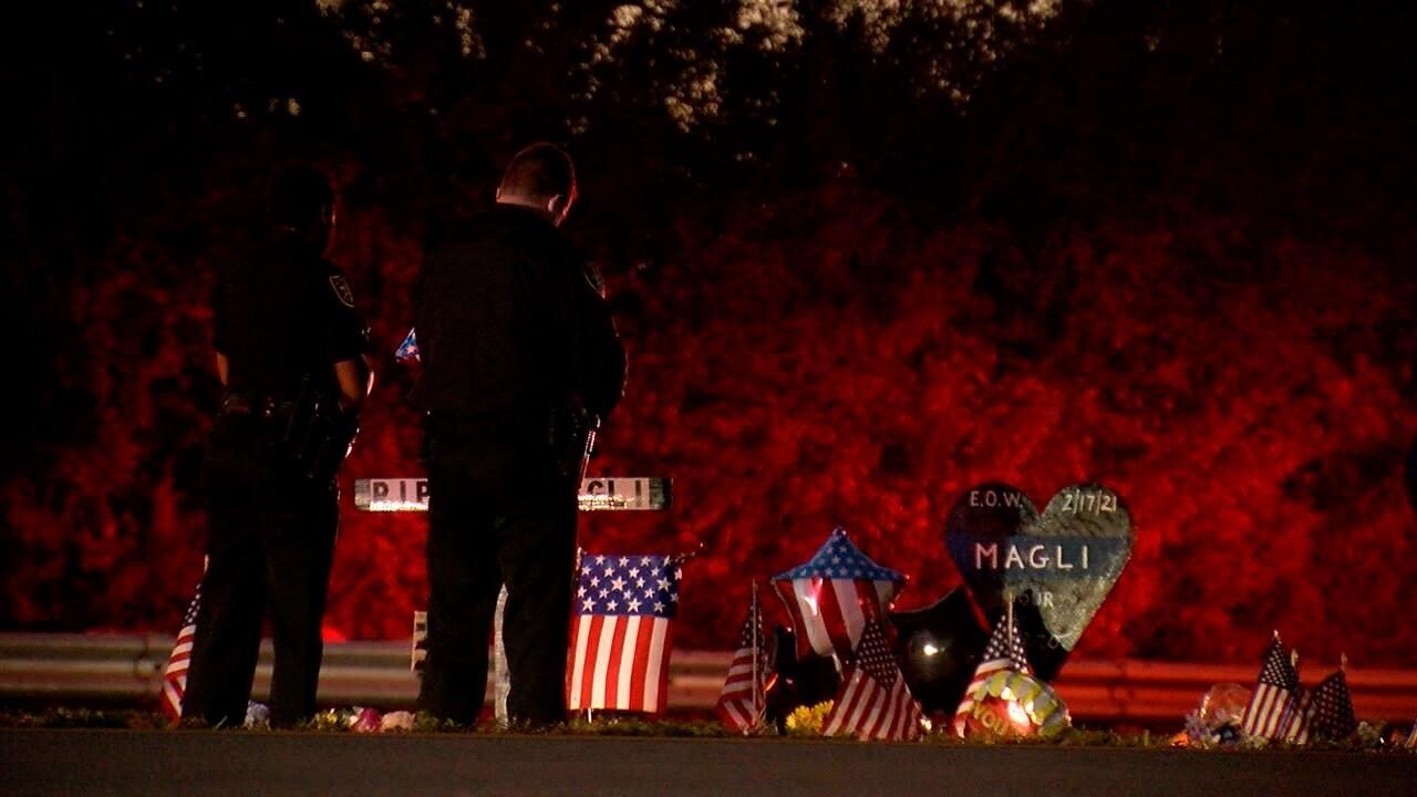 Vigil for Deputy Michael Magli