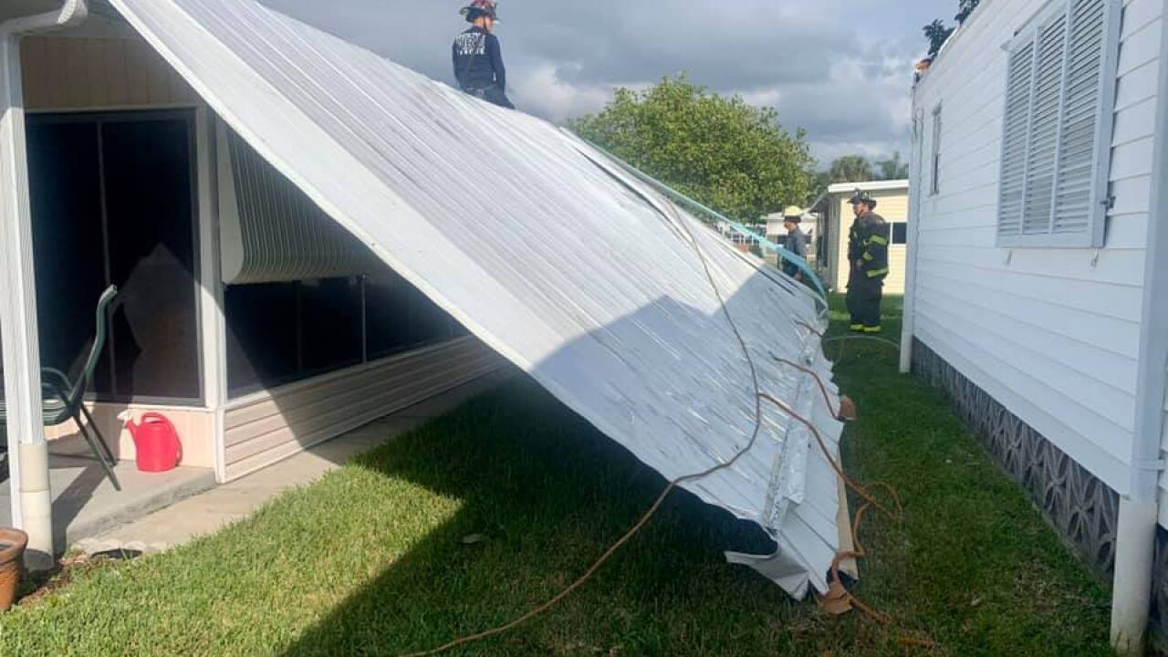 Wind Blows Roof Off Of Fort Myers Home