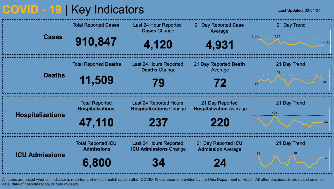 CV key indicators 2/4/21