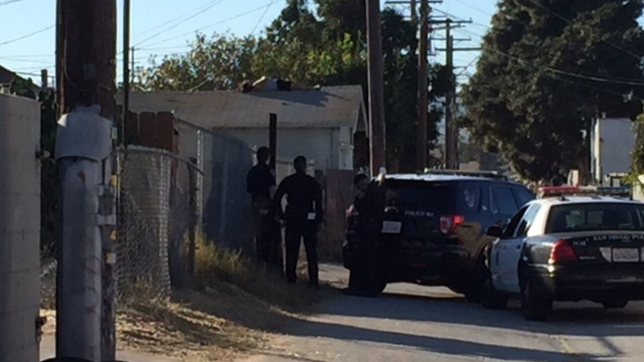 Man on Logan Heights garage prompts standoff with police
