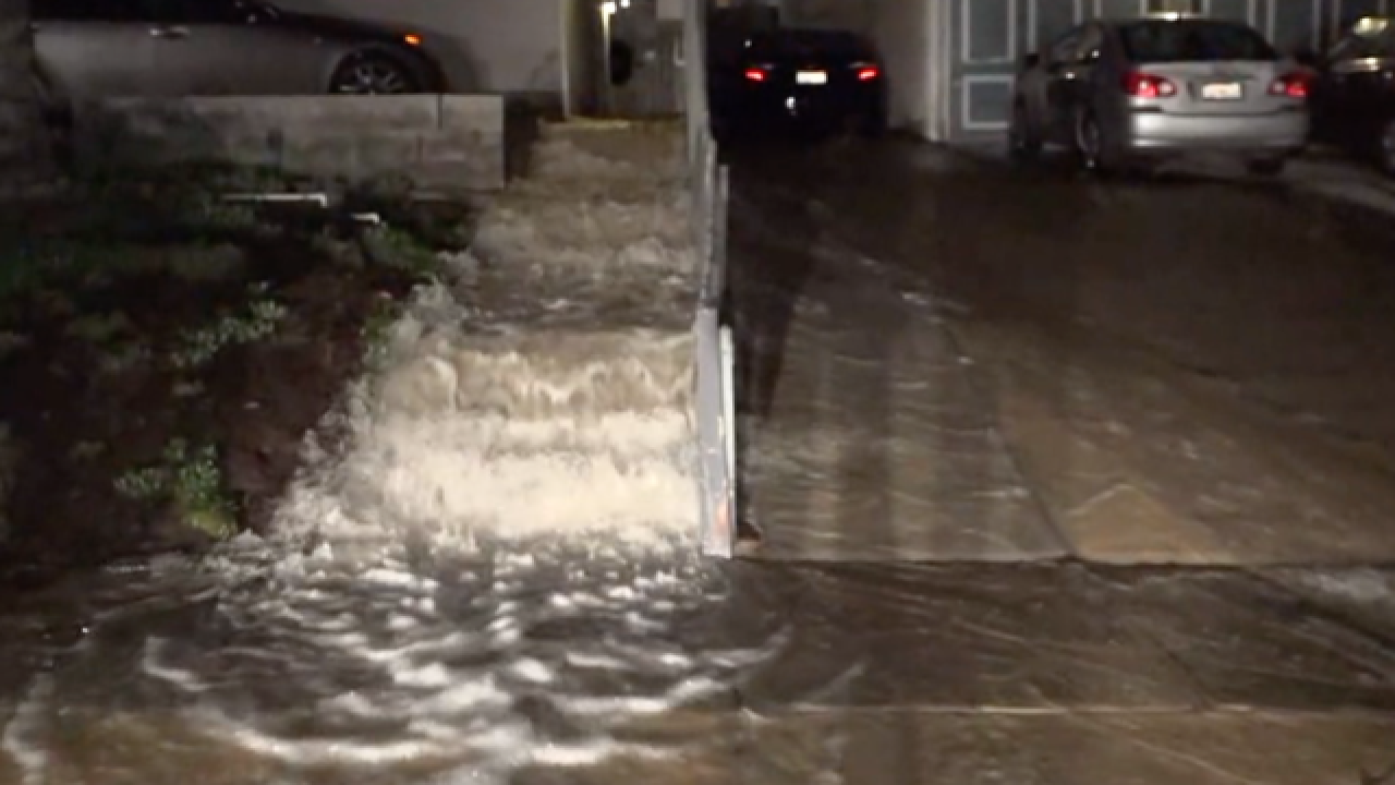 Water main break causes North Park flooding