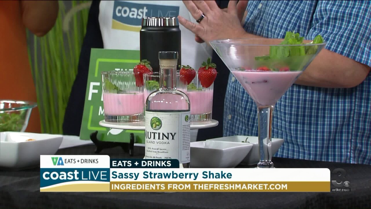 Preparing a sassy shake and groovin' guac with Chef Patrick on CoastLive