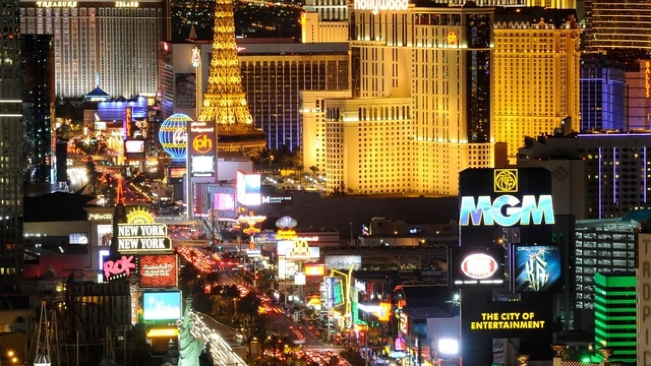 Las Vegas Hotels Dim Lights On Strip One Week After Shooting