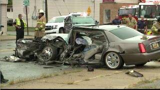 Crash involving dump truck Wyoming