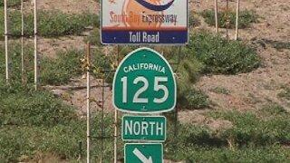Stretch of SR-125 in Chula Vista to close for repairs