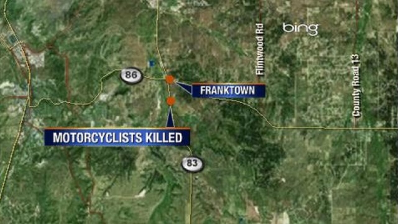 2 motorcyclists killed on Hwy 83 near Franktown
