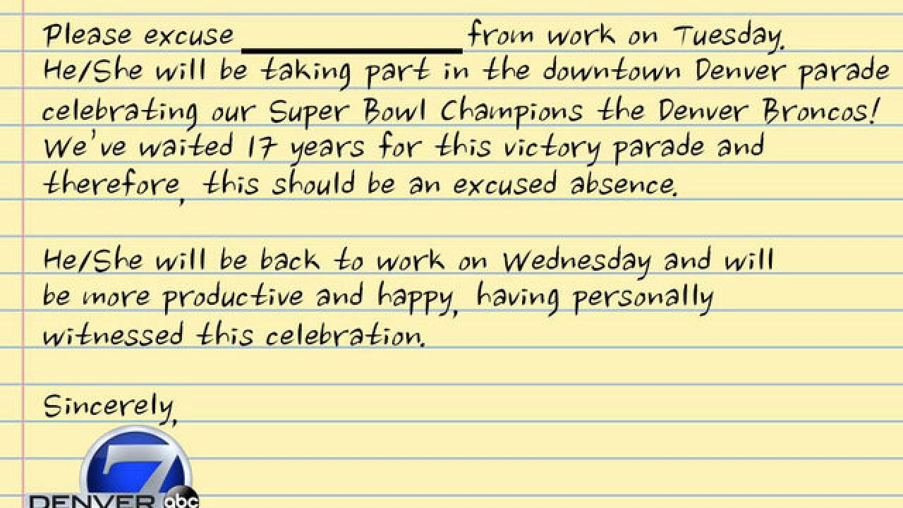 heres the note youll need to get out of work
