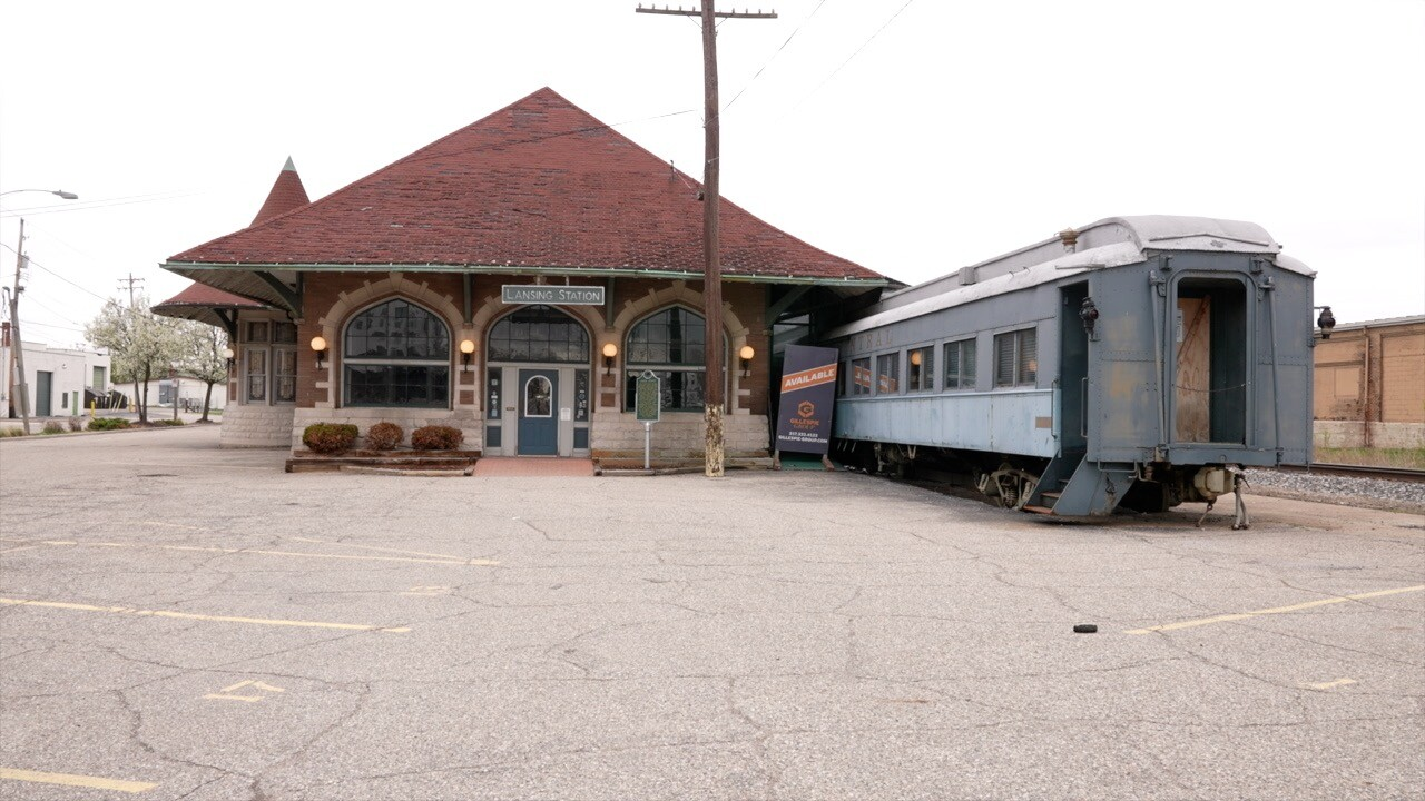 Clara's Restaurant and train station property is slated for renovation.