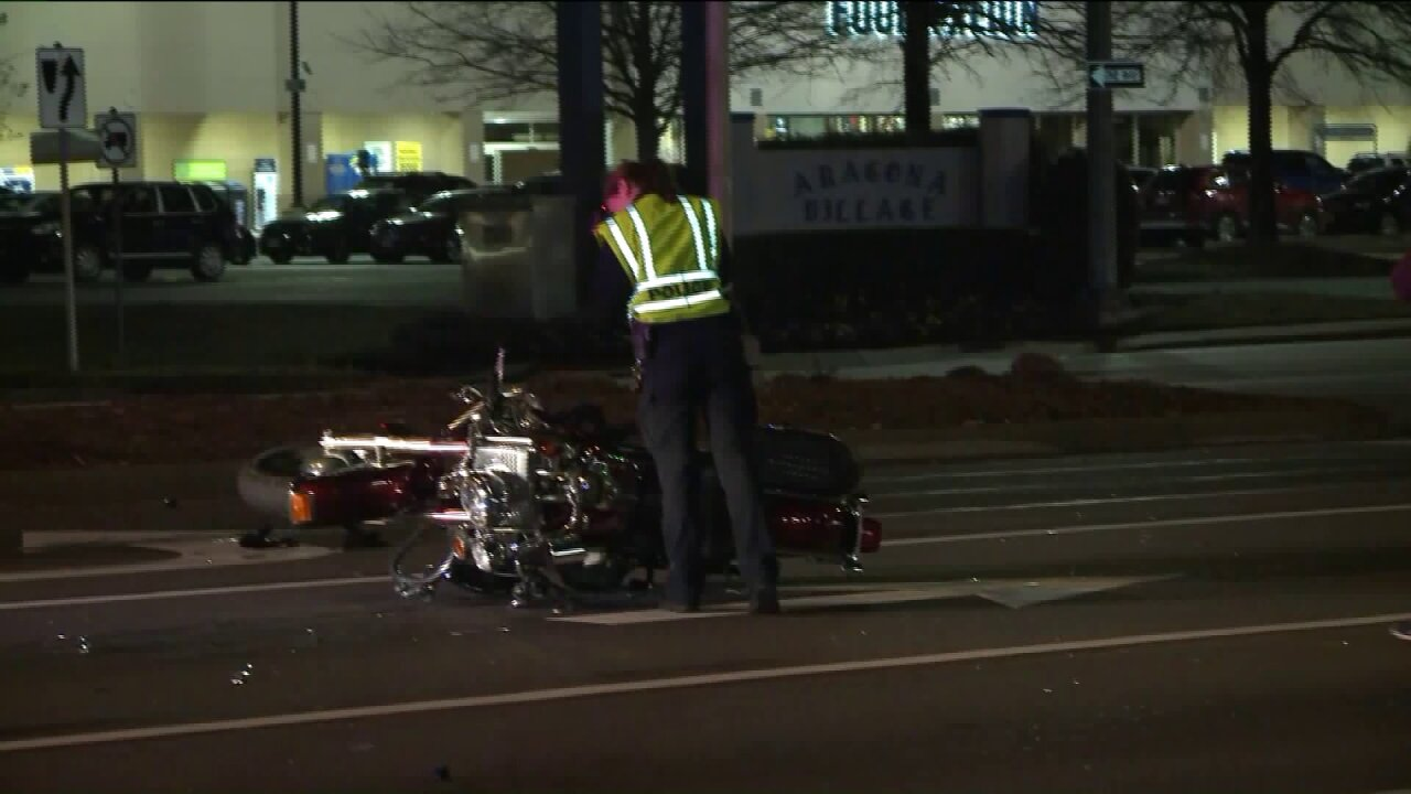 Virginia Beach motorcycle crash results in 'serious' injuries, police say
