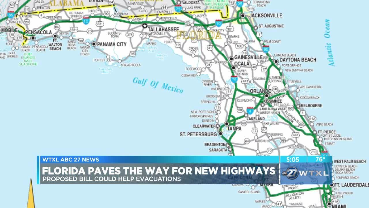 Florida Map With Highways.Florida Paves Way For New Highways