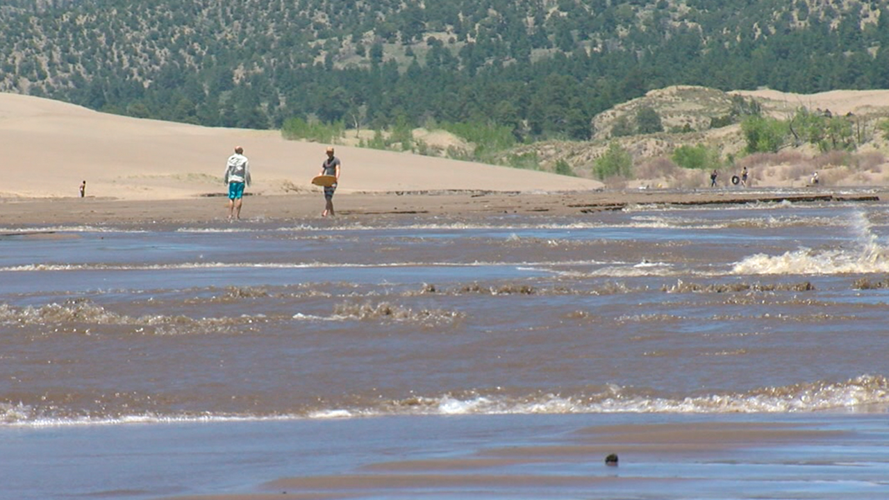 Surf S Up Dude Crowds Flock To The Great Sand Dunes To