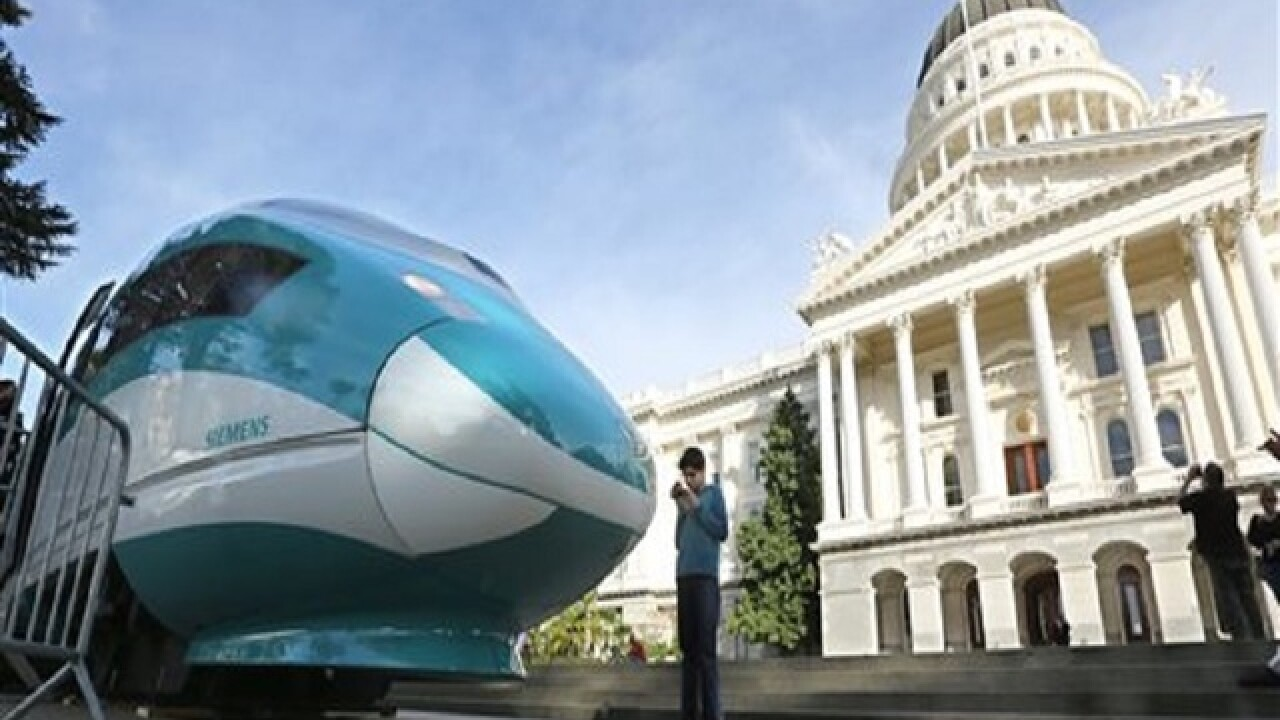 Revised Calif. high-speed rail plan approved