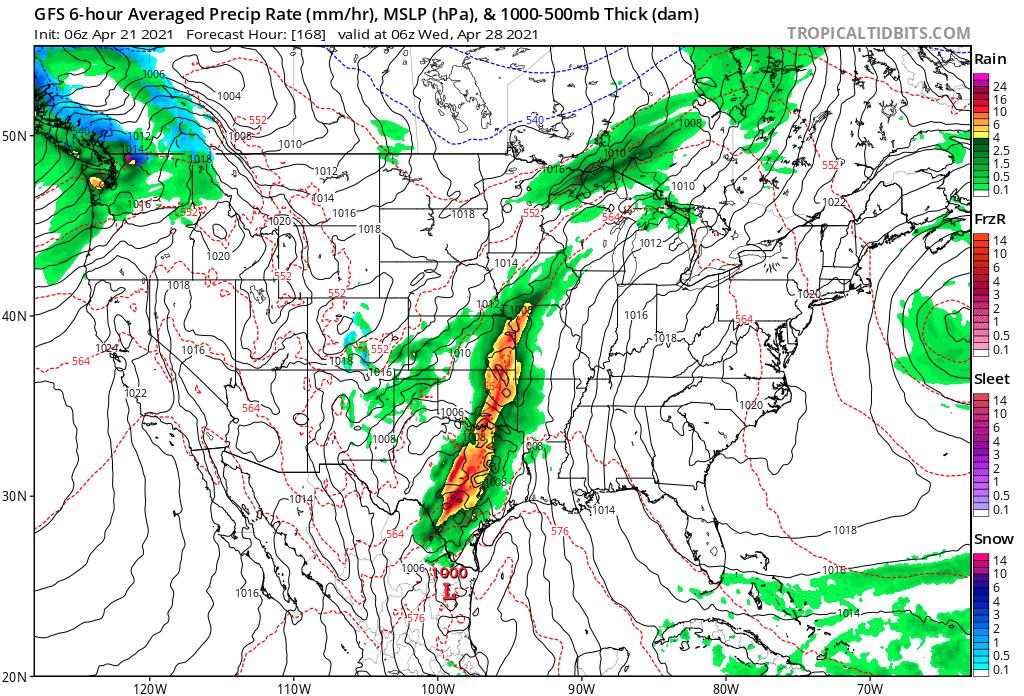 April 27th GFS Forecast